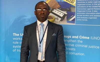 Dr.Gbeminiyi Onabanjo, on working visit to United Nations in his capacity as the Permanent Representative of CCDI- Nigeria at United Nations