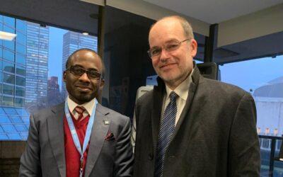 Dr.Gbeminiyi Onabanjo, Director Public Health & Chief Administrative Officer, CCDI-Nigeria and Mr.Marc-Andre Dorel